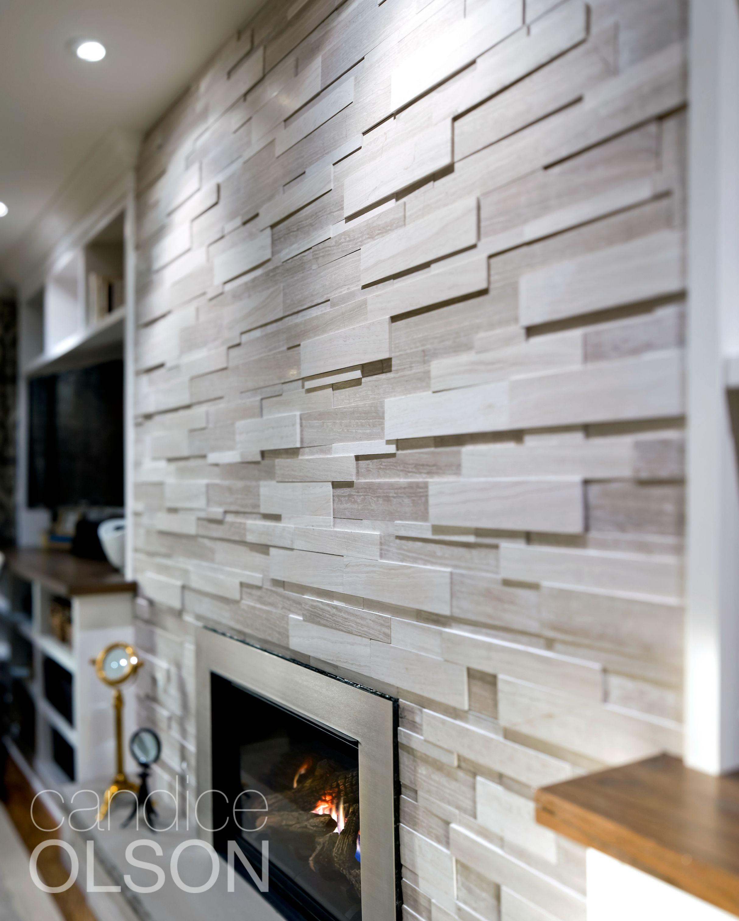 A Beautiful Wall Of Stacked Stone Veneer The Stone Says