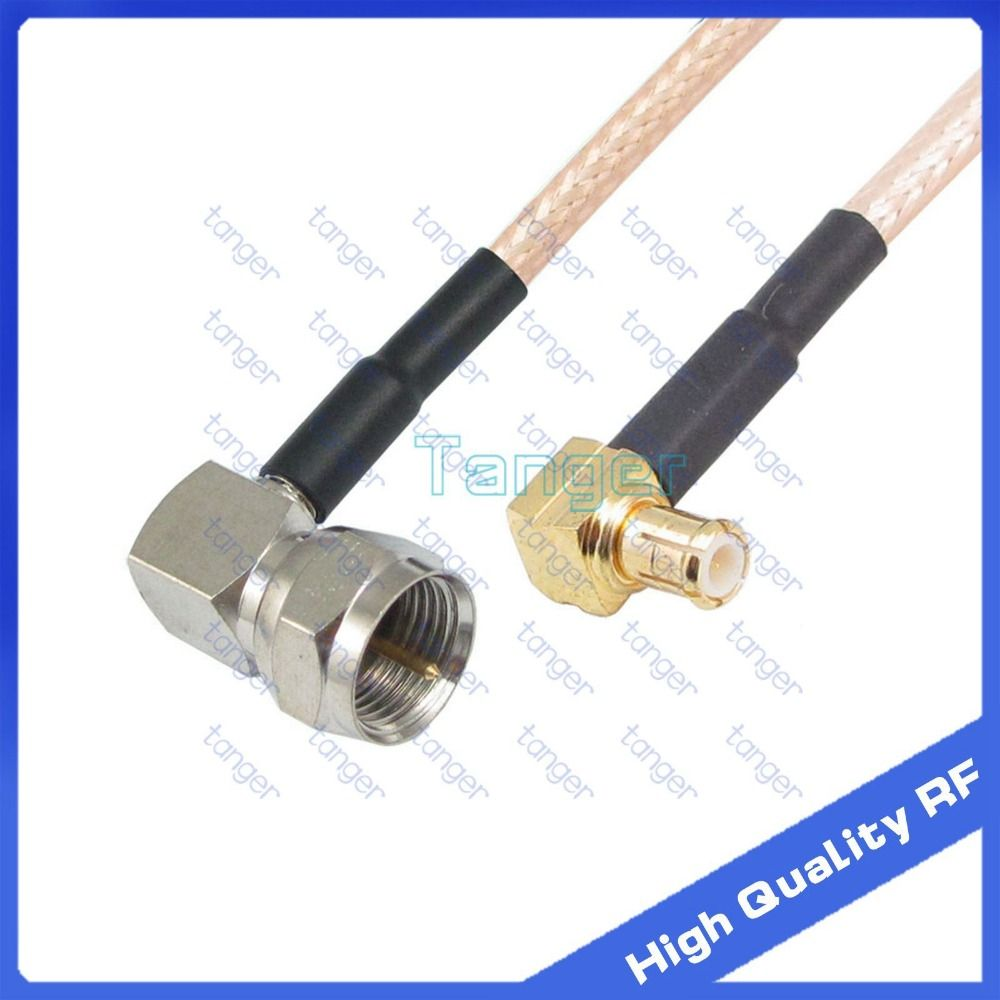 "MCX male right angle to F male right angle with RG-316 RF Coaxial Pigtail Jumper cable 6"" 15cm Tanger High Quality RF cables #Affiliate"