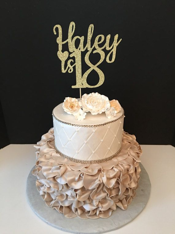 This Custom Cake Topper Can Be Made With ANY Number You Would Like And Name