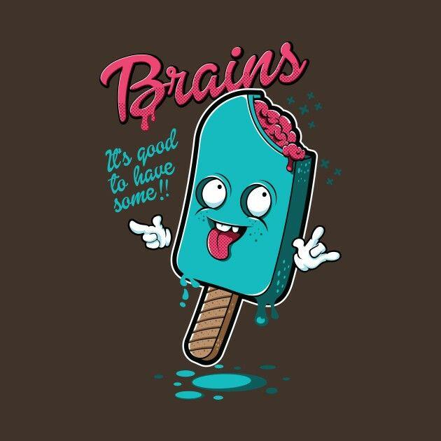 Scary Zombie Ice Cream Pop Tee Men/'s Image by Shutterstock