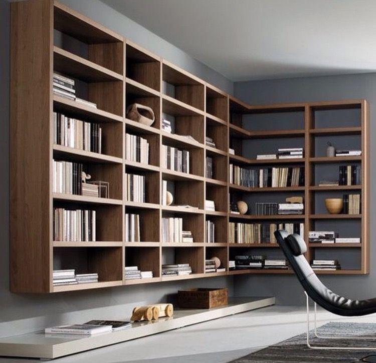 Kütüphane Bookshelf Pinterest Biblioteca moderna, Bibliotecas - bibliotecas modernas en casa