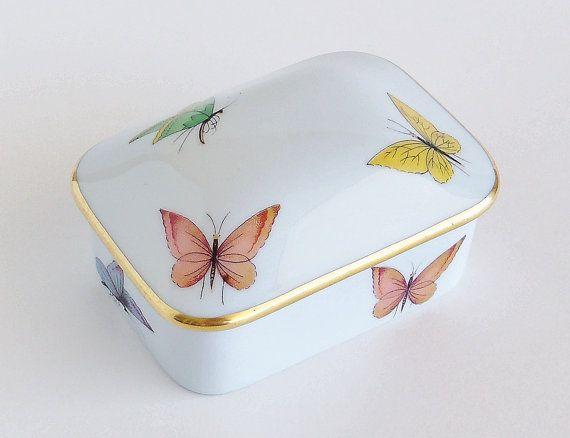 Butterflies,peonies,shabby chic,trinket box