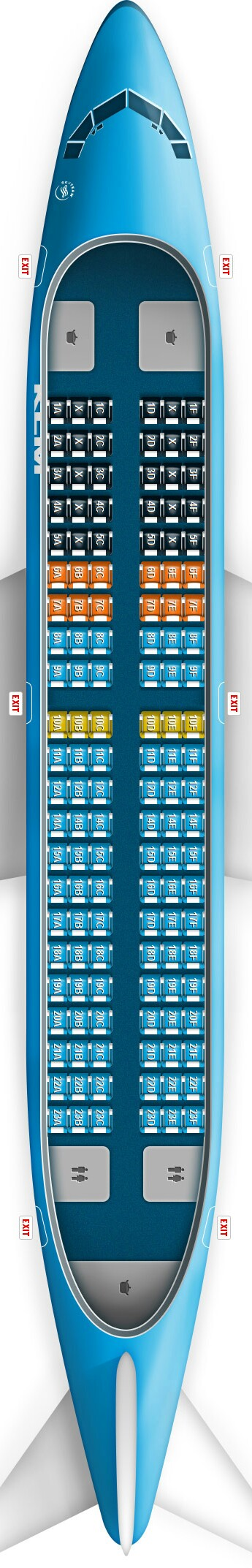 KLM 737-700 Seat Map