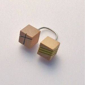 Thumbnail: Double Cube Open Top Ring by Sarah Tector