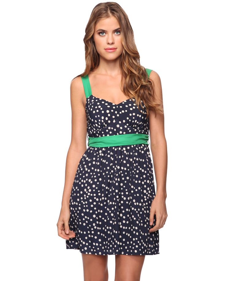 You can never go wrong with a cute polka dot dress for Spring.  It's $22.80 at Forever 21!