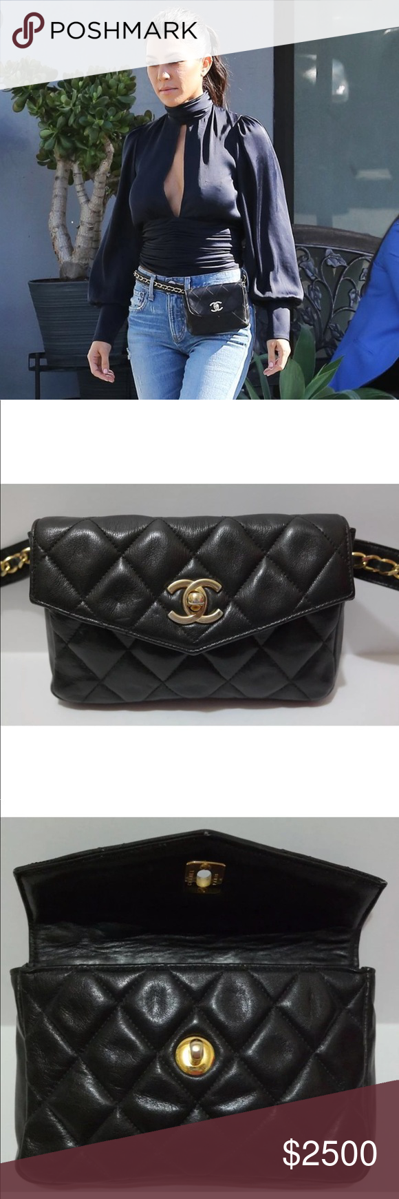 2ad8d70a215d Chanel Quilted CC Bum Fanny Pack Bag RARE As seen on celebrities, hottest  item of