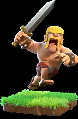Barbarian Clash Of Clans Clash Royale Barbarian