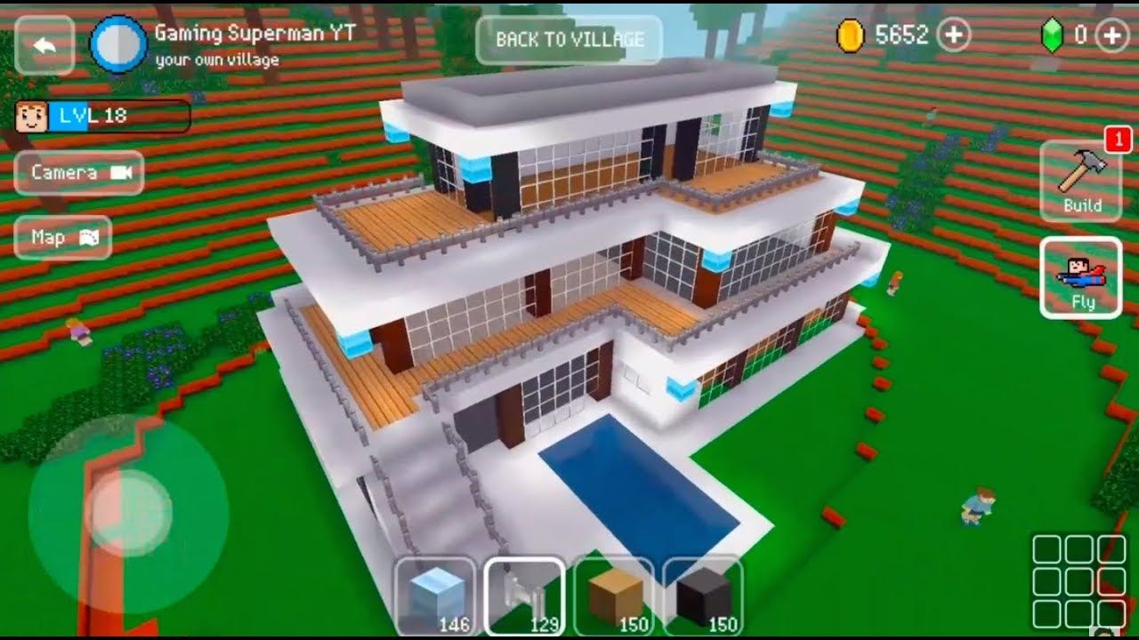 Block Craft 3D Mobile Gameplay -Modern House- | Projets à