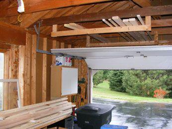 Overhead Lumber Storage Diy Lumber Storage Carport Makeover Lumber Storage