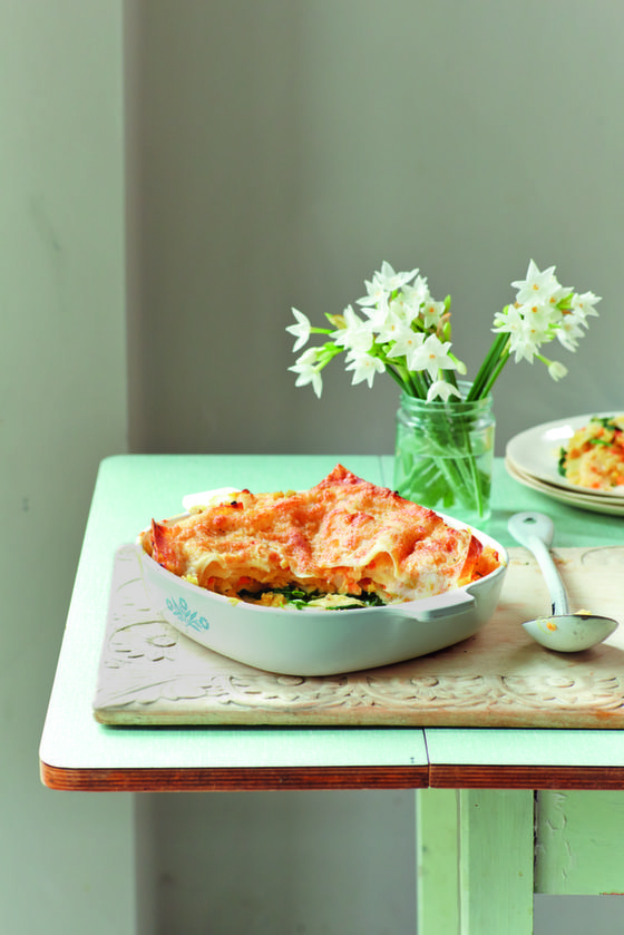 Red Lentil & Spinach Lasagne
