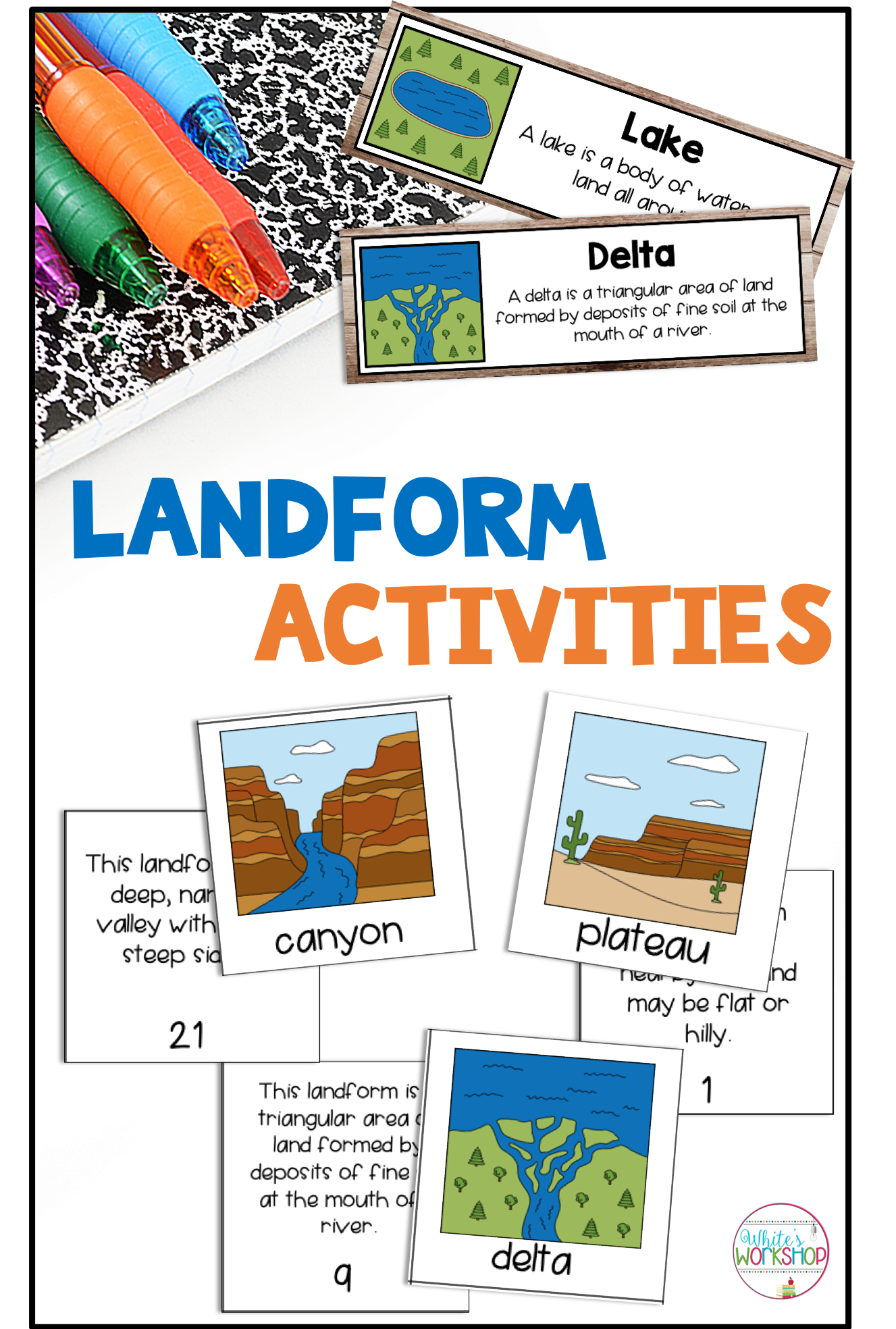 Landform Activities And Worksheets