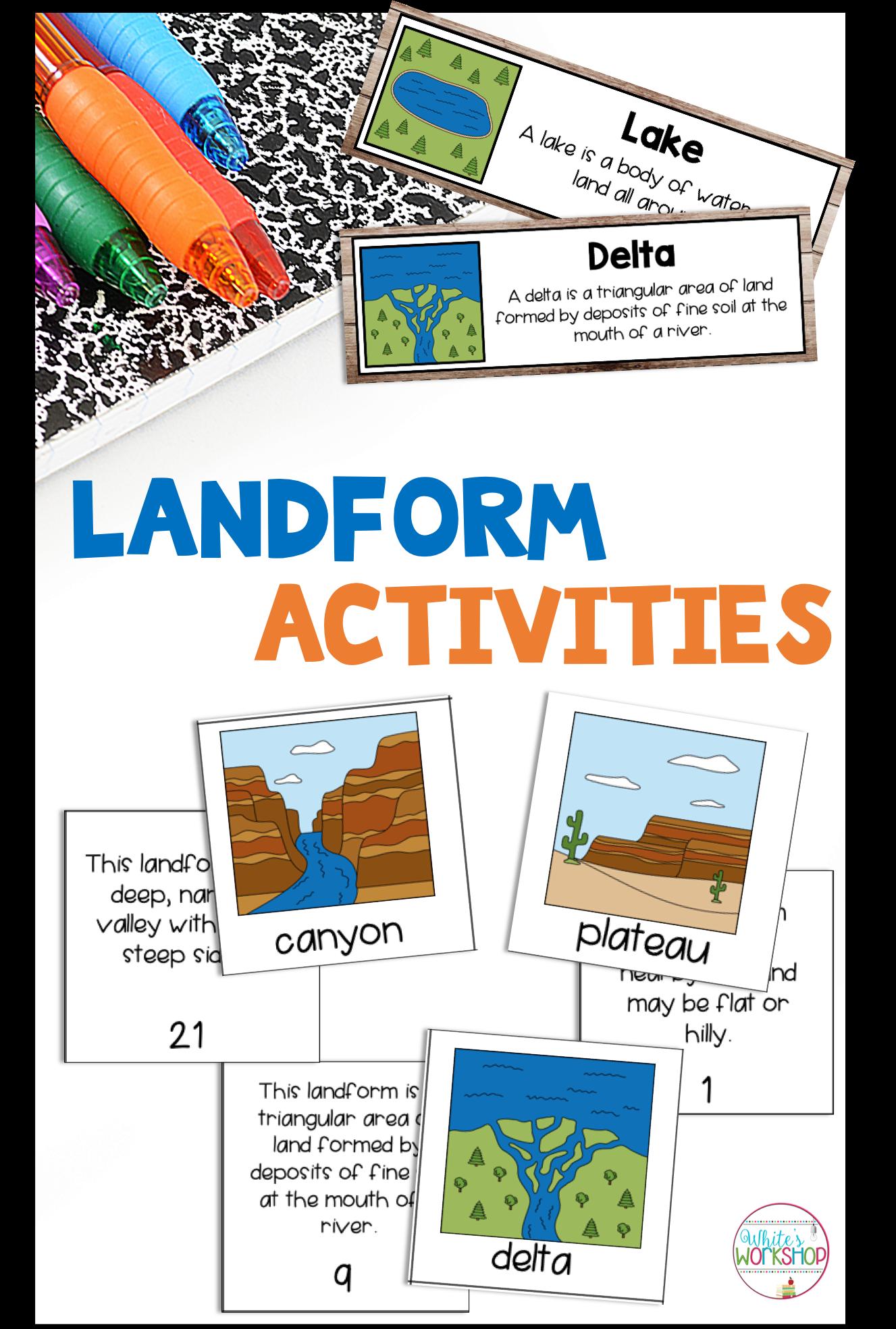 Landform Activities And Worksheets