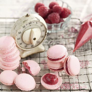 Rosa Himbeer-Macarons