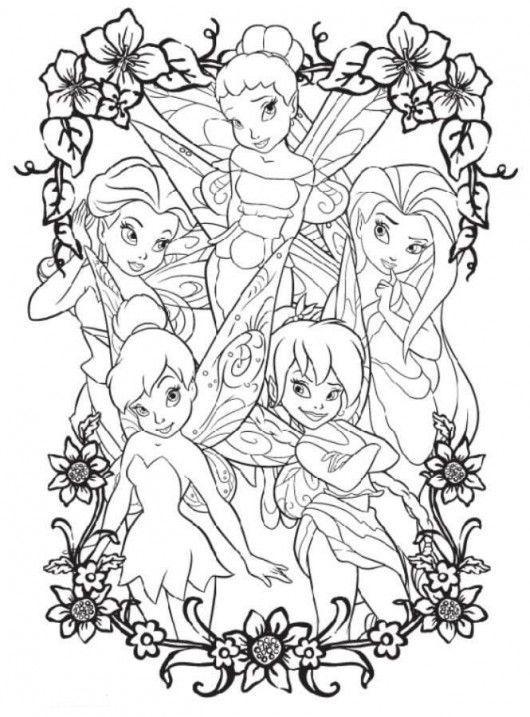 tinkerbell coloring pages printable | Tinkerbell Coloring Page ...