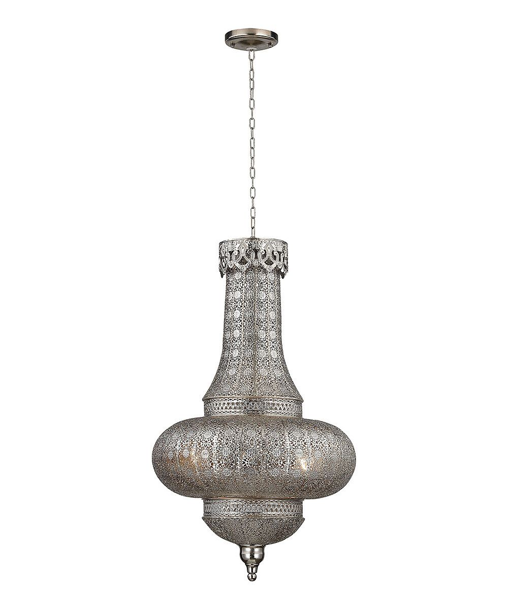 Look at this pierced metalwork hanging pendant lamp on zulily today