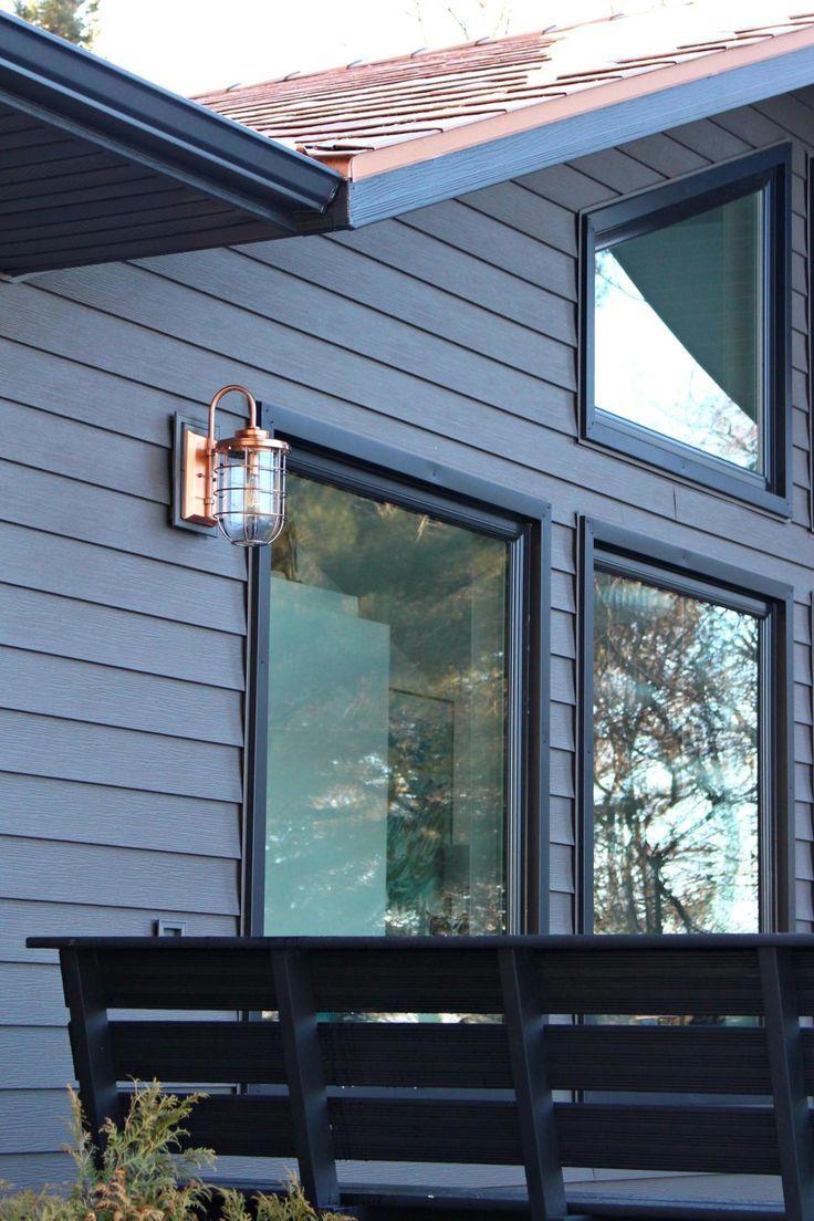 Dark Grey Metal Siding Siding That Sparkles Dans Le Lakehouse Lake Houses Exterior Copper Roof House Modern Farmhouse Exterior