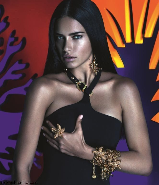 Adriana Lima sizzles in Versace for Riachuelo campaign.  versace ... 92772a3205