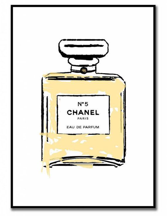 Chanel parfum poster van livstil op Etsy  17bad2f9c0