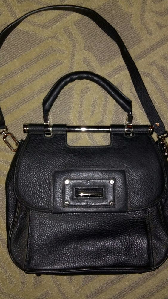 Banana Republic Women S Pebble Leather Satchel Bag In Black Nwt 260 00 Clothing Shoes