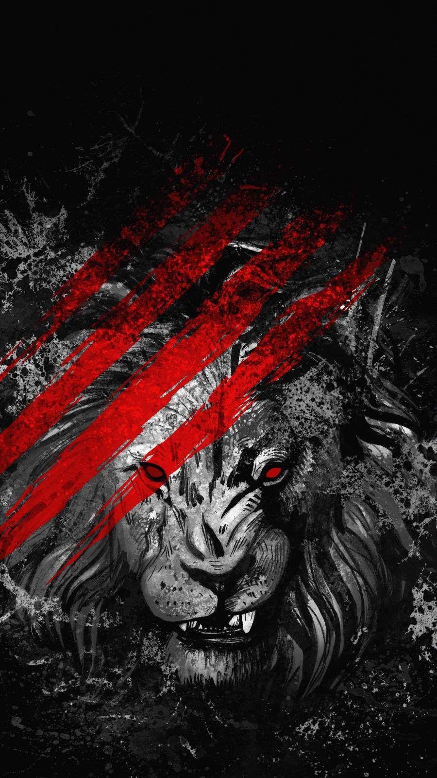 Lion Art iPhone Wallpaper - iPhone Wallpapers