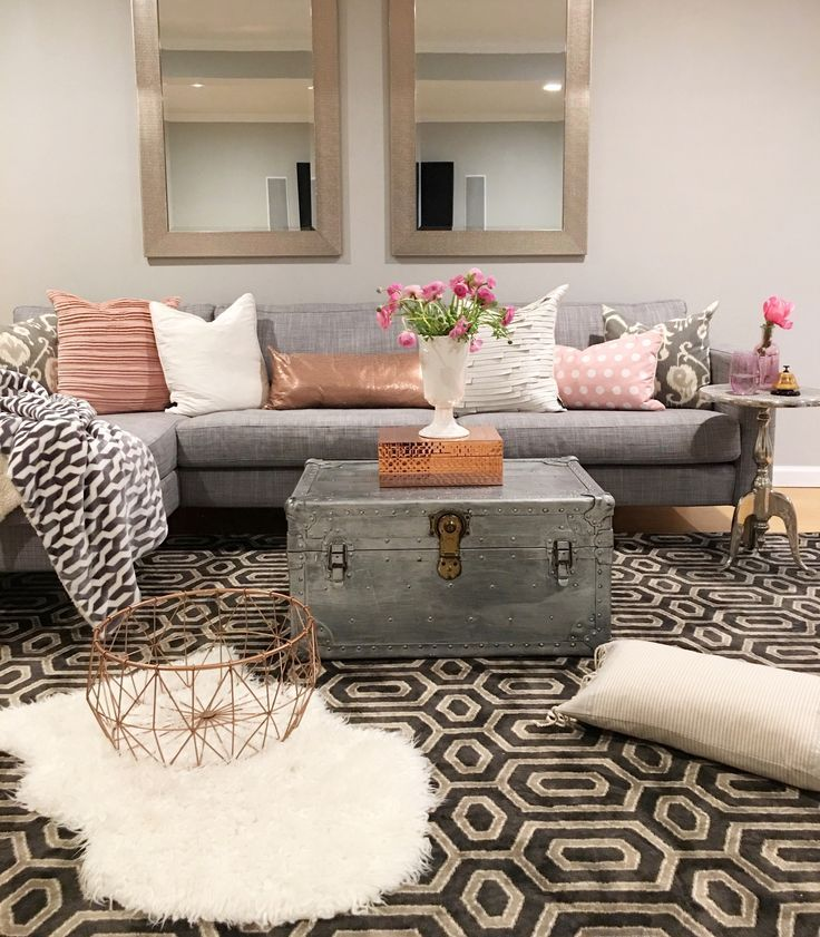 Chic And Colorful Living Room Decor For Spring: Modern Boho Basement - Crazy Chic Design
