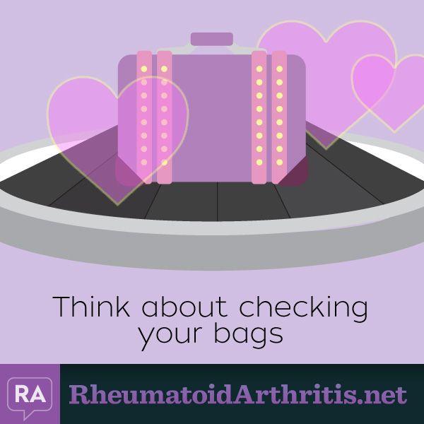 RheumatoidArthritis.net   Tips for traveling with RA   Read the original article by Carla Kienast here: http://rheumatoidarthritis.net/living/pack-ra-go/