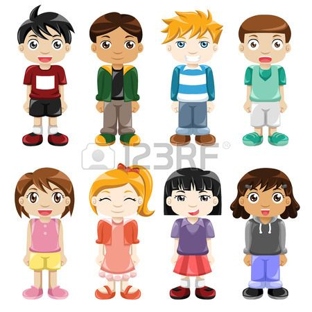 illustration of different kids expressions