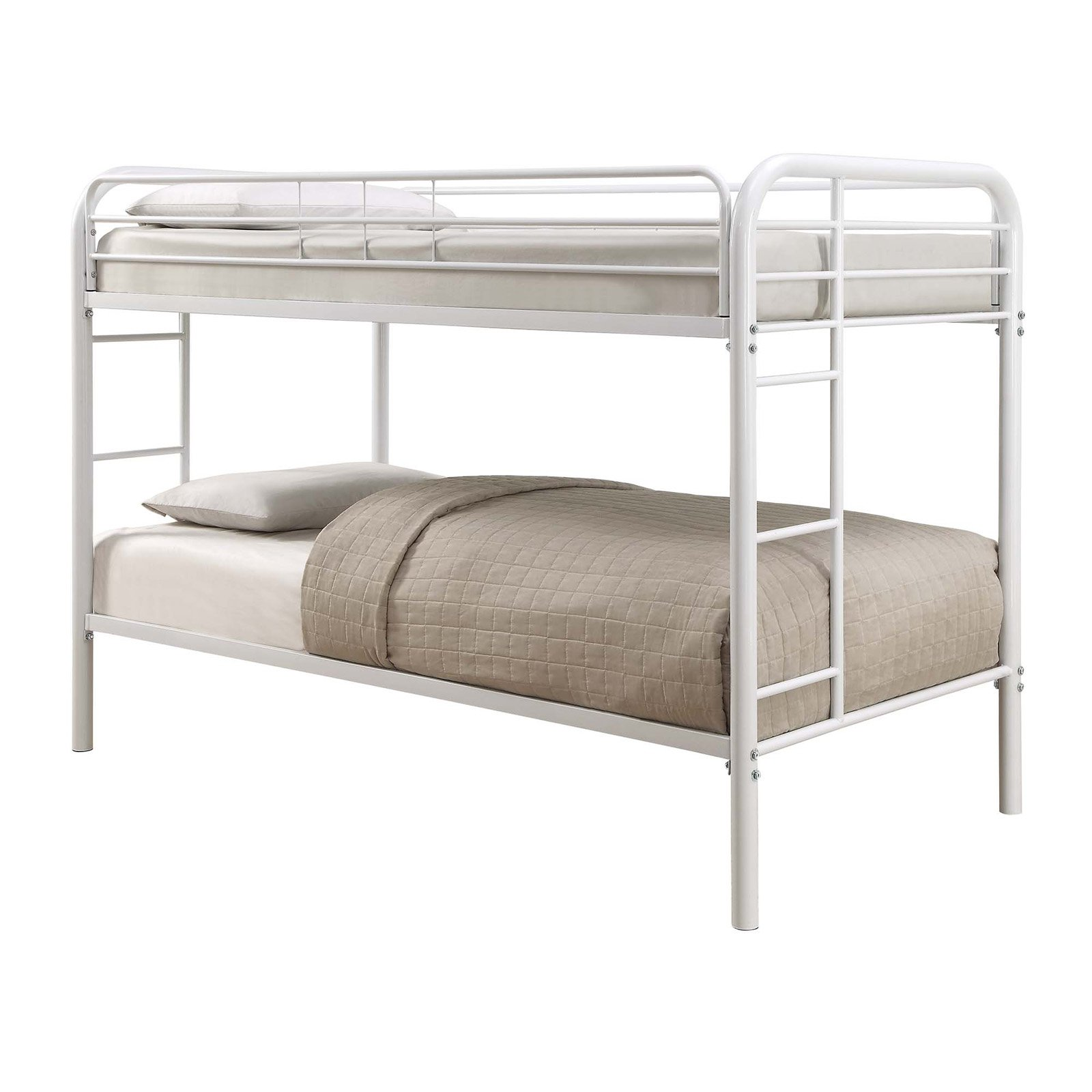 Coaster Furniture Morgan Twin Over Twin Bunk Bed White Bunk Beds