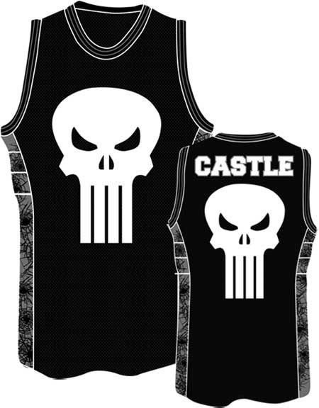 32ee6be3 Punisher Skull Marvel Comics Basketball Patch Jersey Shirt Nwt