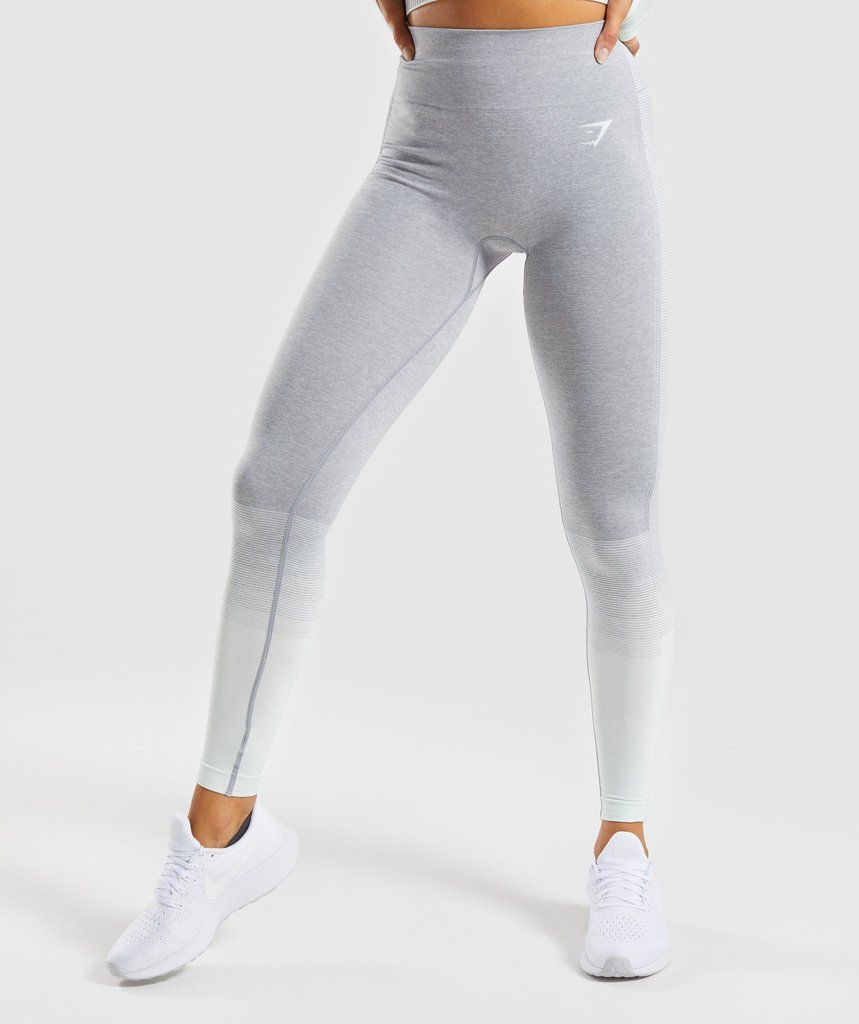 09a3221c6bda4 Gymshark Amplify Seamless Leggings - Light Grey Marl/Sea Foam Green ...