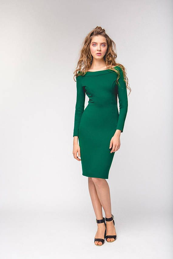 5bcb99f46184d3 pencil dress. long sleeve dress. tight dress. open shoulders. off shoulder  dress. casual dress. sexy dress. day dress ✤Off Shoulders Pencil Dress The  Way I ...