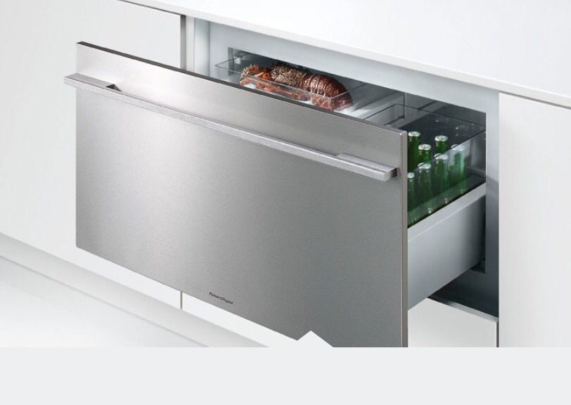 And A Fridge In A Drawer Too Refrigerator Drawers Undercounter Refrigerator Drawers Modern Refrigerators