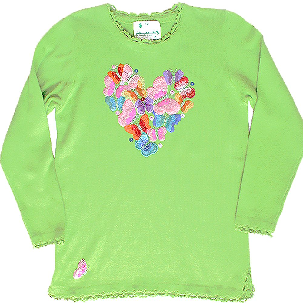 Quacker Factory Blingy Butterfly Heart Tacky Ugly Sequin Gem Sweater