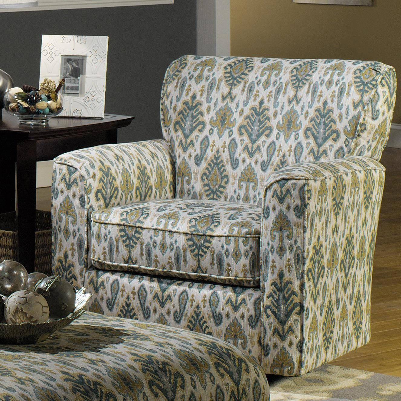 craftmaster chair and a half wooden potty with tray accent chairs upholstered swivel flared arms by at becker furniture world upholsteredswivelchairs