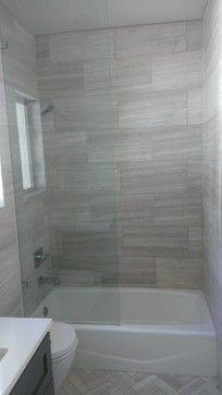 Bathroom 12 X 24 Valentino Gray Marble Walls Floor Contemporary