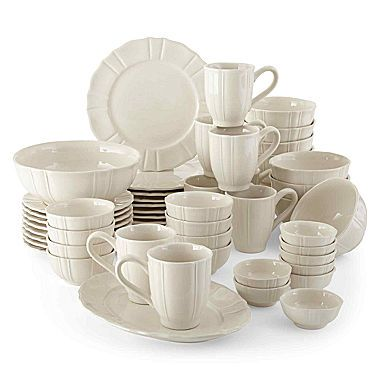 JCPenney Home™ Ashley Scalloped Stoneware Dinnerware Set - Service for 8  sc 1 st  Pinterest : stoneware dinnerware sets for 8 - pezcame.com