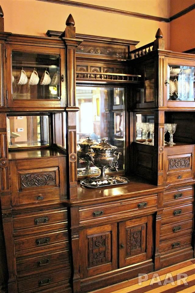 1888 Queen Anne Built In Buffet Peoria Il Victorian Furniture