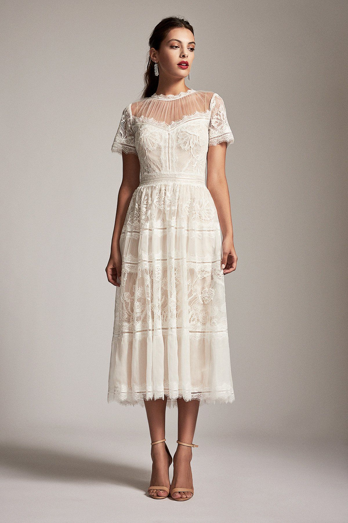 Tadashi Shoji Lace Jewel A Line Cocktail Dress In 2021 A Line Cocktail Dress Lace White Dress Dresses [ 1800 x 1200 Pixel ]