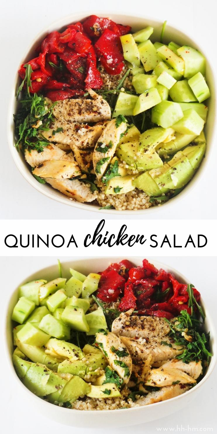 Quinoa Chicken Salad With Avocado  Meal Prep Option  Her Highness Hungry Me Quinoa Chicken Salad With Avocado  Meal Prep Option  Her Highness Hungry Me