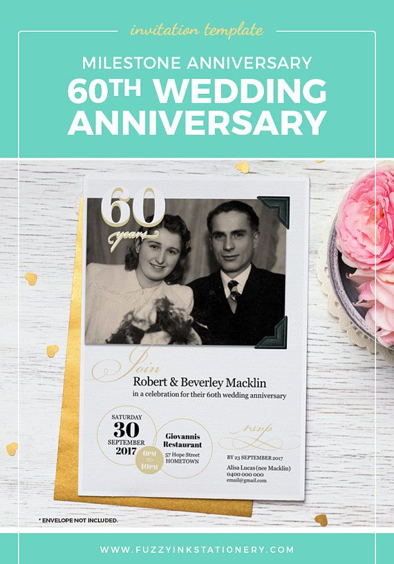 60th Wedding Or Birthday Anniversary