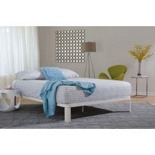 Best Lunar White Metal Wood Platform Bed Ii White Platform 400 x 300