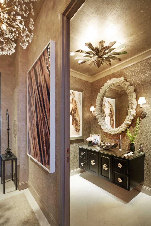 2016 Kips Bay Show House Home Tour | Wall hung vanity, Damask wall ...