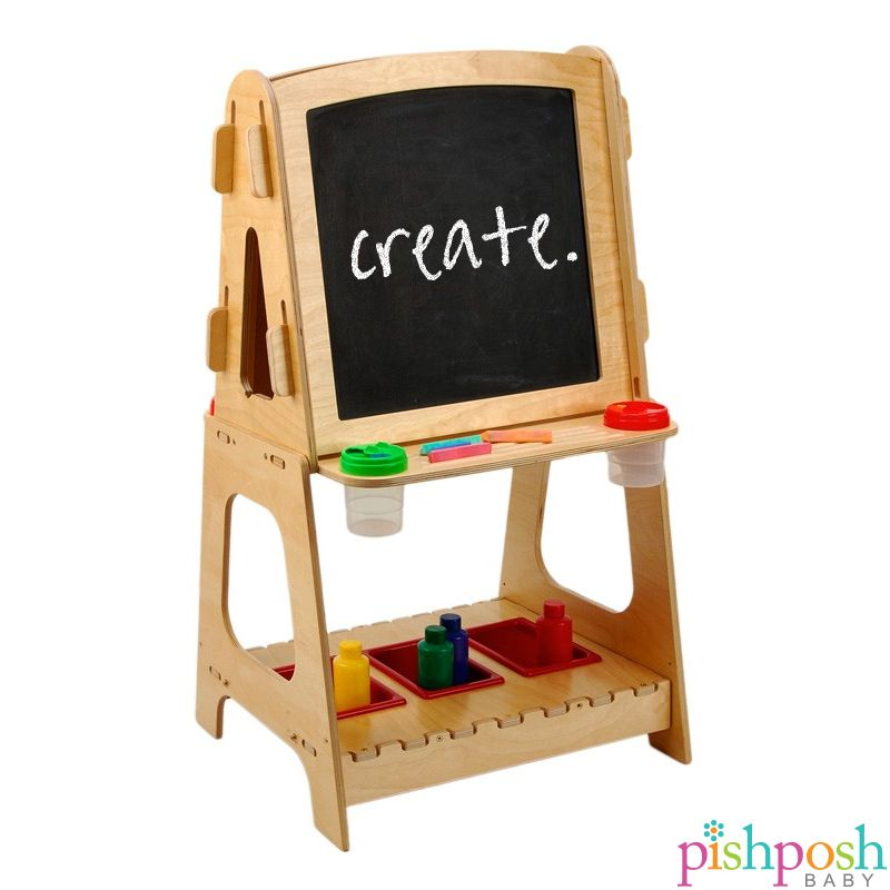 Nothing inspires creativity like having an easel for the kids! Solid wood lasts for years, and art supplies keep them busy for hours. Makes a great gift for your budding artist! http://www.pishposhbaby.com/anatex-standing-easle.html