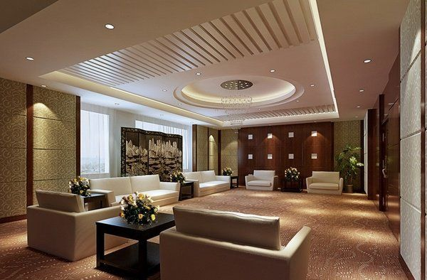 Modern Living Room Design Decorative Ceiling False Ideas