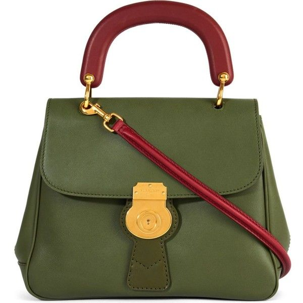Burberry Trench leather crossbody tote ($1,805) ❤ liked on Polyvore featuring bags, handbags, tote bags, crossbody purses, vintage leather tote bag, crossbody tote, green leather tote and handbags totes