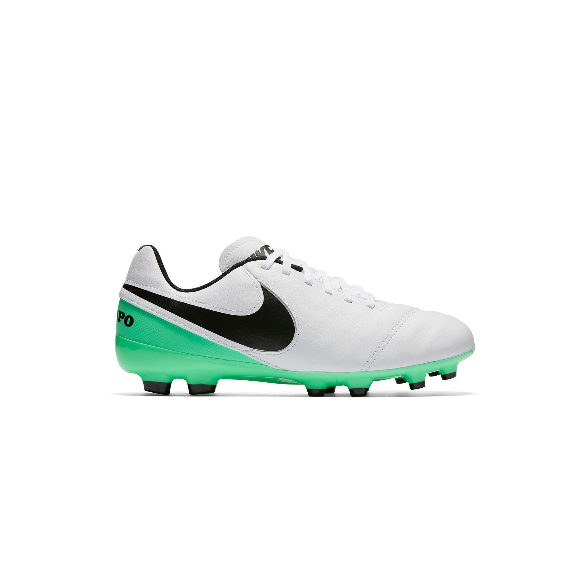 Nike Jr. Tiempo Legend VI Firm Ground Kids' Soccer Cleats, Kids Unisex, Size:  1, Natural