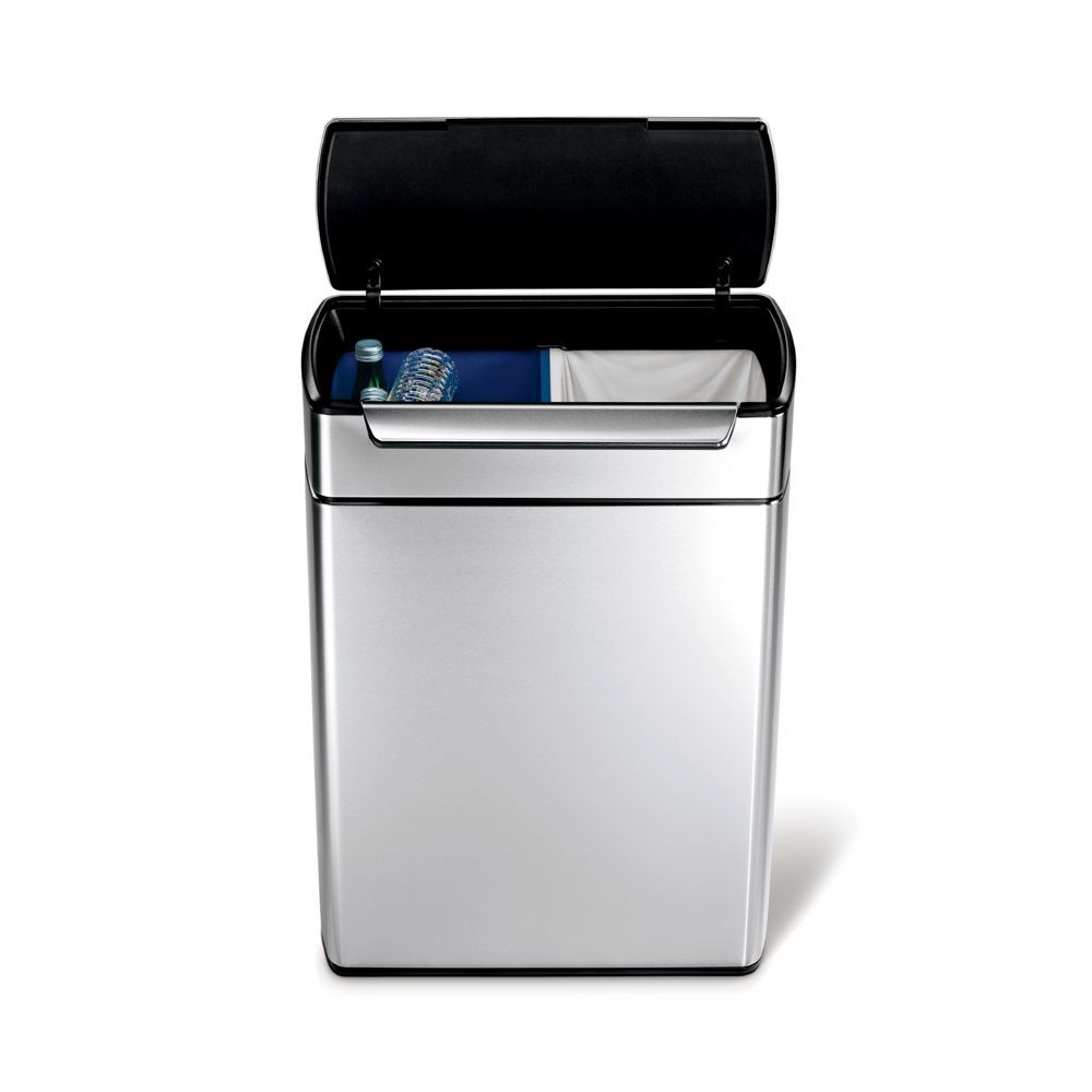 Pedaalemmer 60 Liter.Simplehuman 46 Liter Touch Bar Recycling Can Products