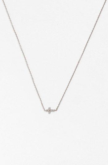 Adina Reyter Pavé Diamond Cross Pendant Necklace | Nordstrom