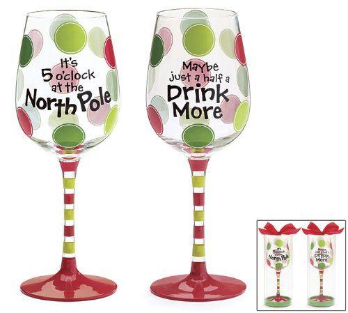 Christmas Wine Glasses | Christmas wine glasses, Christmas wine ...