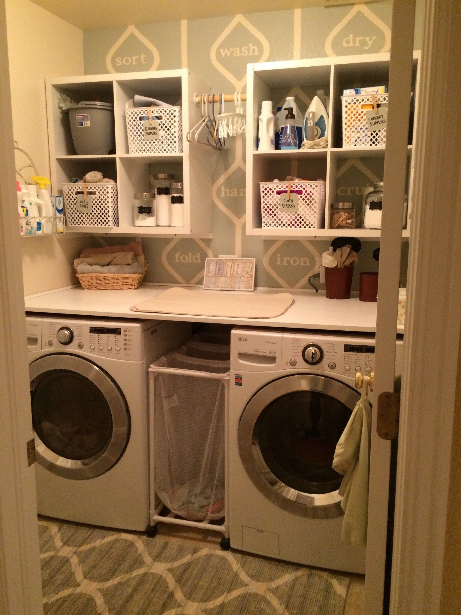 Design Your Own Laundry Room: Paint Your Own Laundry Room Word Wall Using Painter's Tape